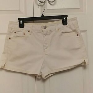 Levis Superlow Stretch Denim White Shorts 13 JR